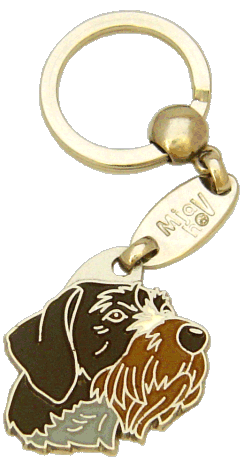 GERMAN WIREHAIRED POINTER - pet ID tag, dog ID tags, pet tags, personalized pet tags MjavHov - engraved pet tags online